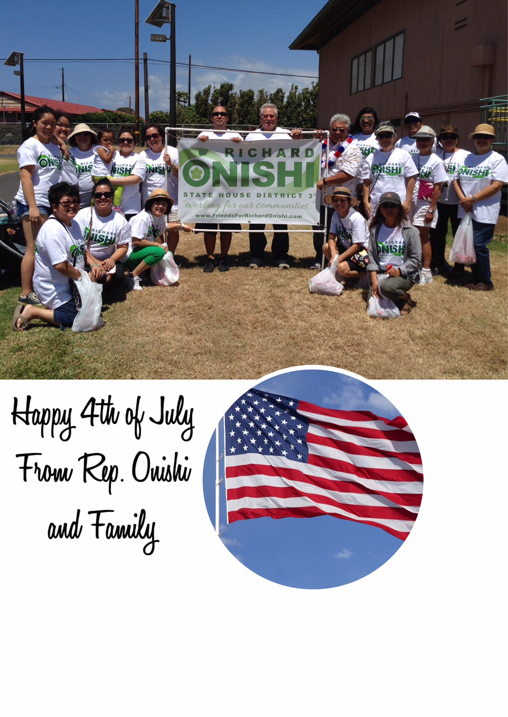 Happy 4th of July from Rep. Richard Onishi